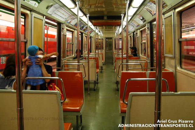 Metro de Santiago - Alsthom NS74 P3009 - Blanqueado (Línea 5)