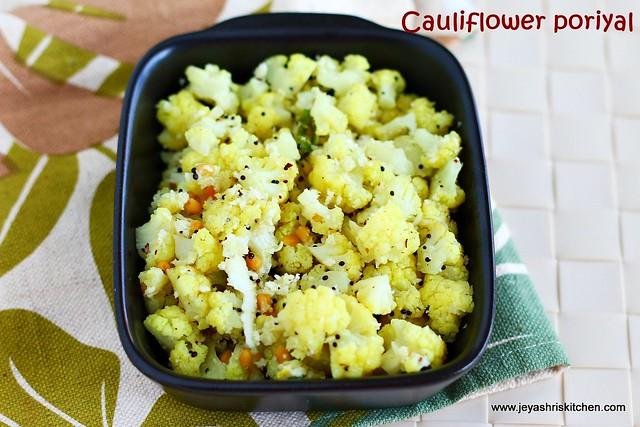 cauliflower- poriyal