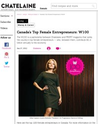Chatelaine Laura Arenada Article