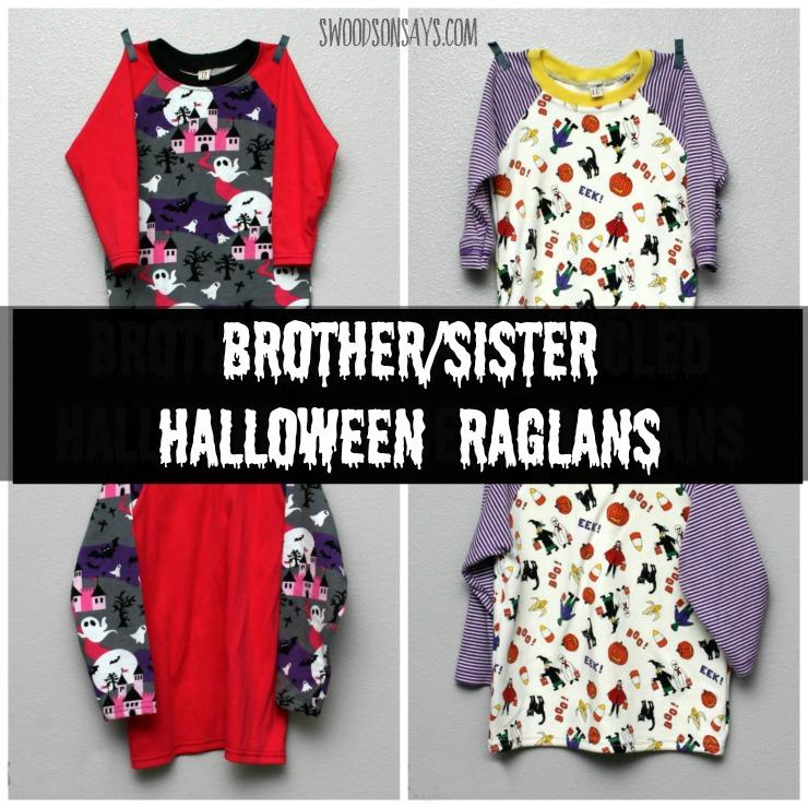 Brother/Sister Halloween Raglans