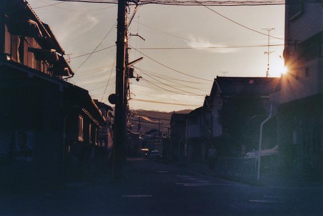 sunset over Kyōto