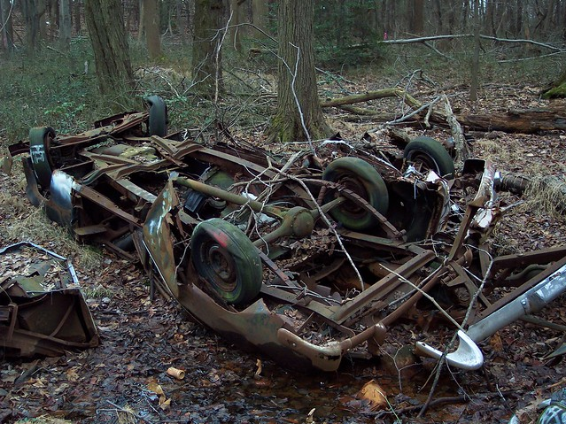 Junked cars found in the woods  Flickr  Photo Sharing