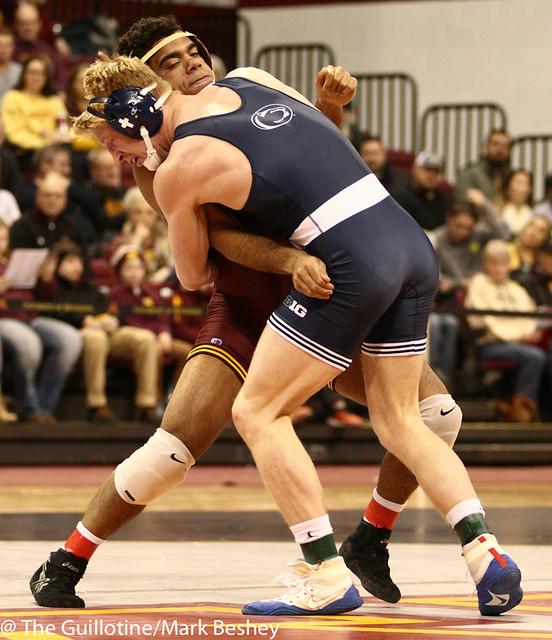 184 #2 Bo Nickal (Penn State) fall Bobby Steveson (Minnesota) 2:36
