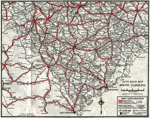 Auto Road Map of SC