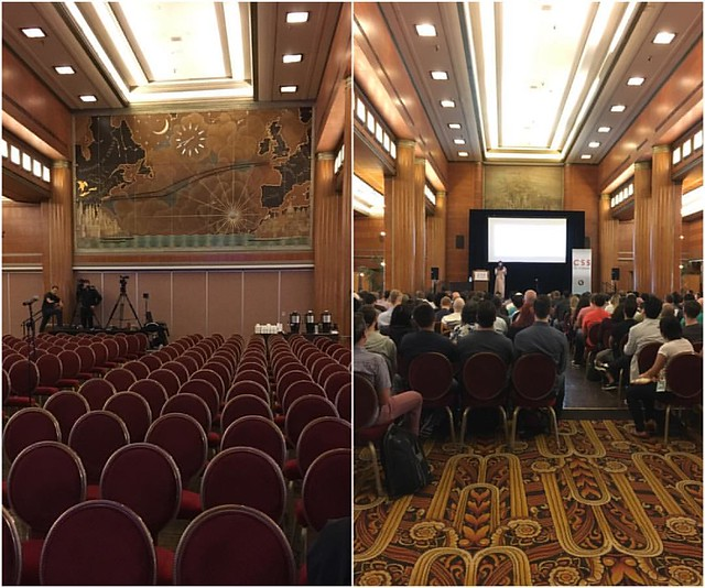 Grand Salon for meals & keynotes - 1st class! #cssdevconf