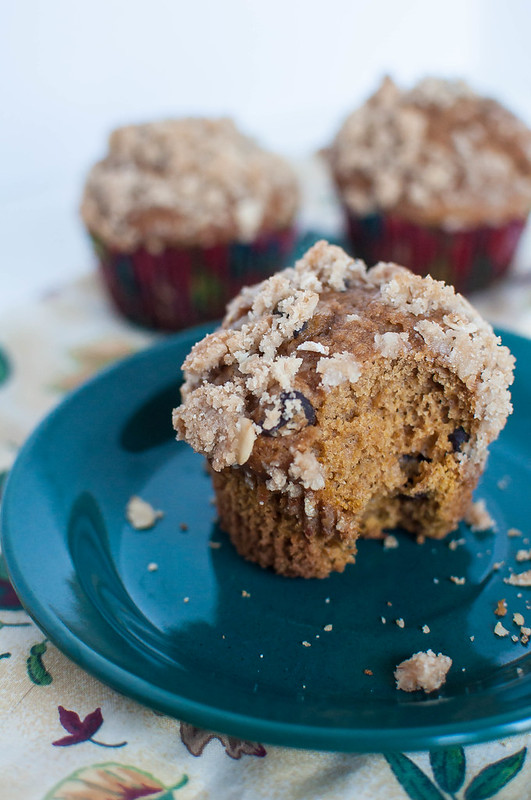 Pumpkin Muffins with Streusel Topping 6