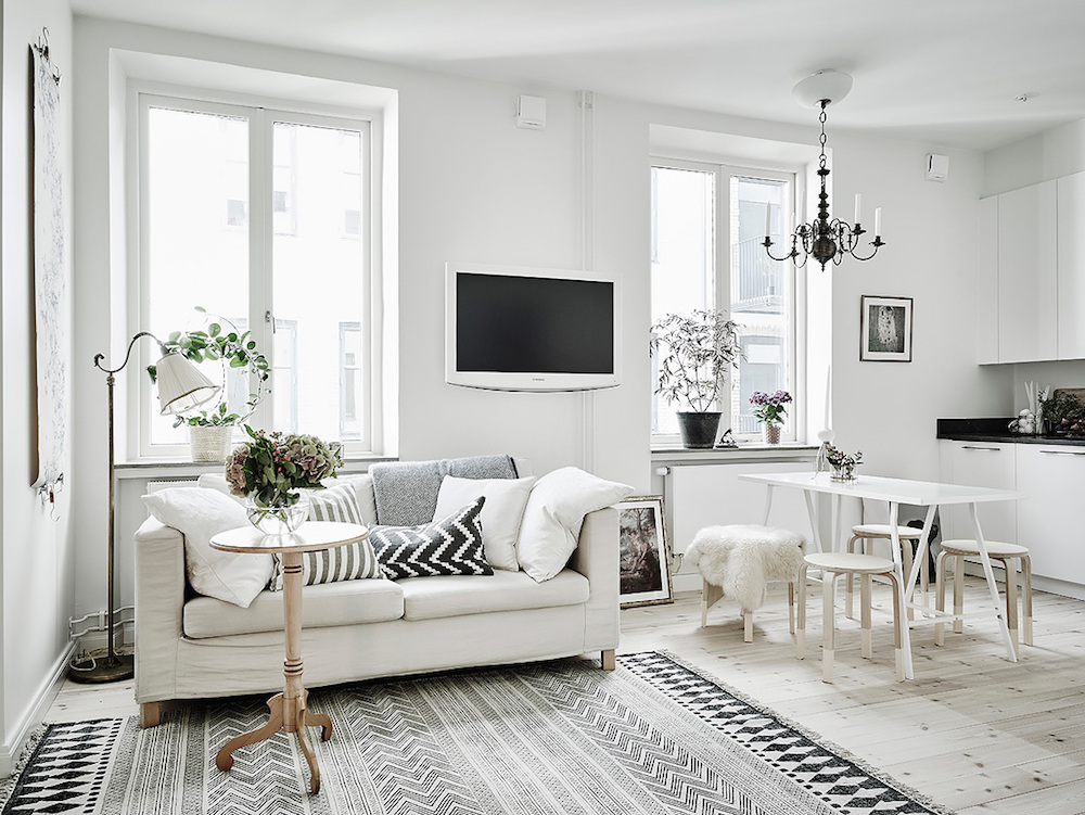 Proste mieszkanie w stylu skandynawskim  JagaDesign