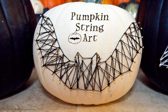 Pumpkin String Art