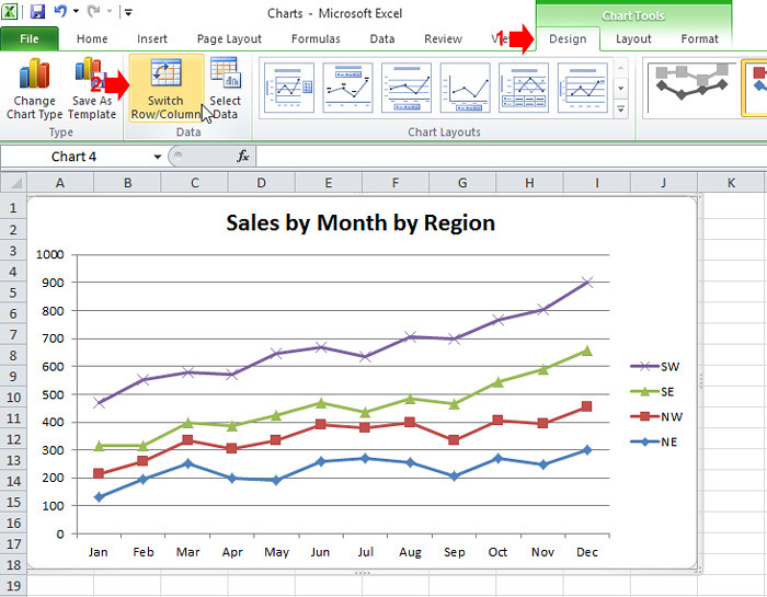 Excel Chart - switch
