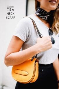 4 WAYS TO TIE A NECK SCARF | a pair & a spare | Bloglovin