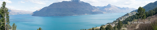Panorama with Lake Wakatipu