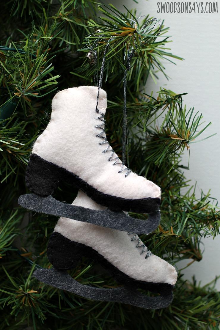 Free Felt Ice Skate Ornament Pattern - Swoodson Says