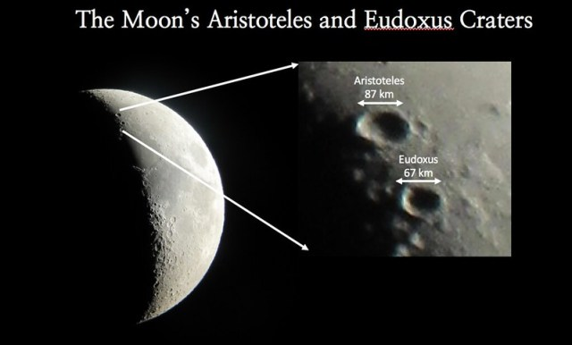 The Moon's Aristoteles and Eudoxus Craters