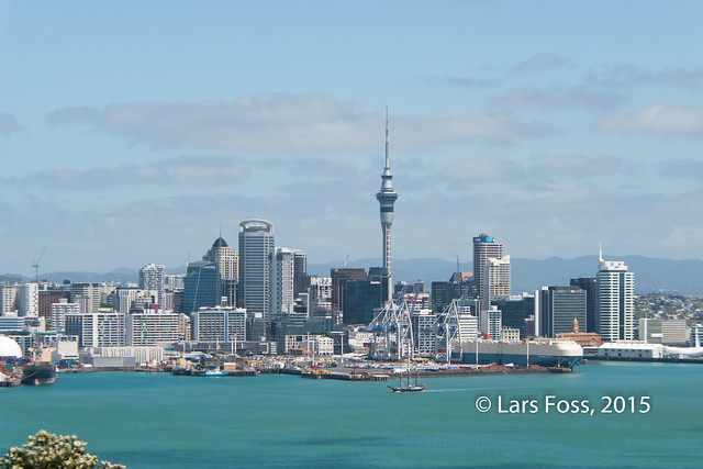 Auckland CBD seen from Mt Victoria