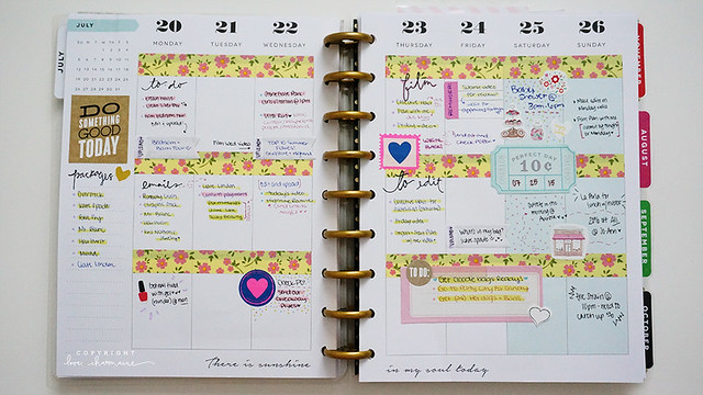 July in my Happy Planner
