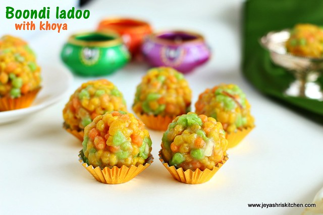 colour boondi ladoo