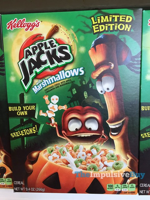 Kellogg's Limited Edition Apple Jacks with Marshmallows Build Your Own Marshmallow Skeletons
