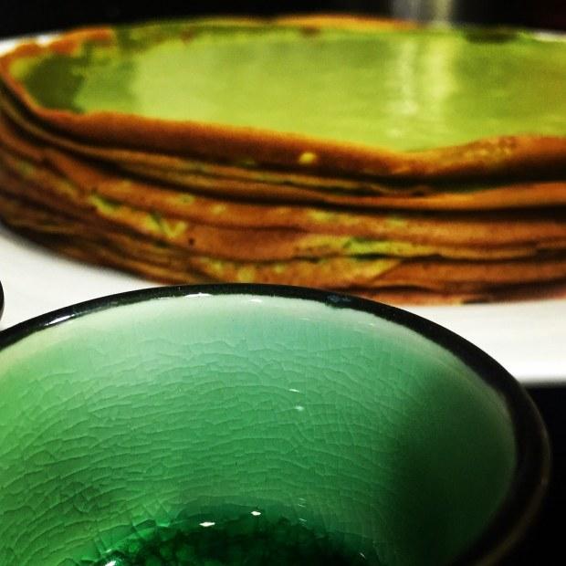 Creppes y natillas de Té verde Matcha