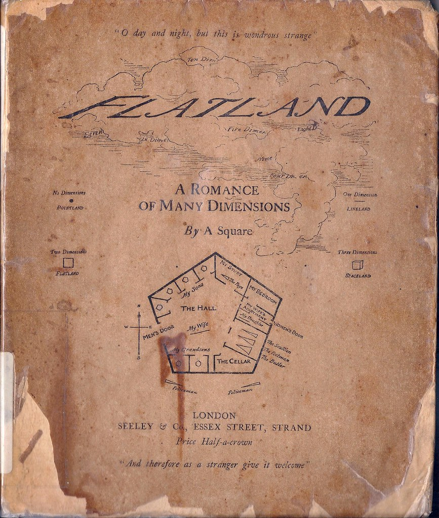 medium resolution of cover of the first edition of flatland 1884 source city of london school archive