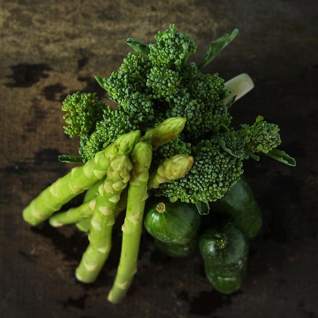 Broccoli Asparagus Cucumber Salad