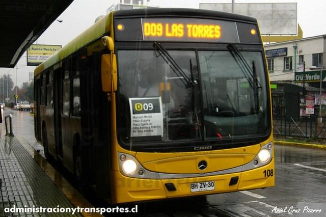 Transantiago - STP Santiago - Caio Mondego H / Mercedes Benz (BHZV30) (130)