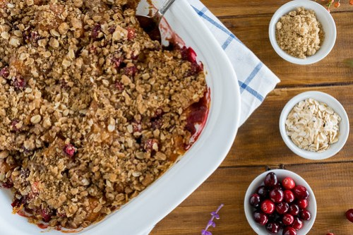 Sweet, tart, and with a crispy topping