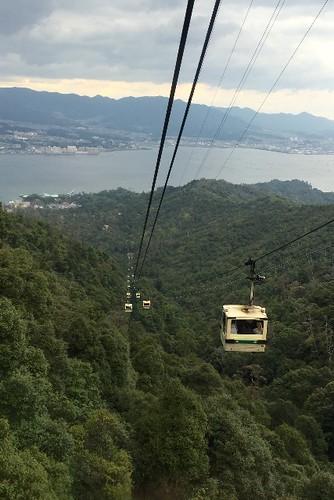 弥山をロープウェイで降りて、