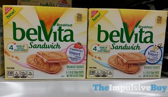 Nabisco belVita Yogurt Creme Breakfast Sandwich (Strawberry and Vanilla)