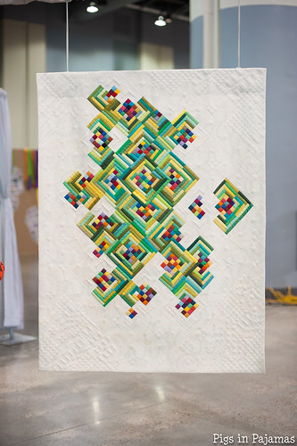Not Easy Being GreenPieced and quilted by Mary Keasler