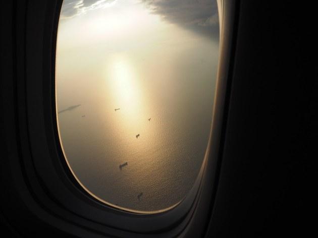 キャセイビジネスクラス窓からの風景