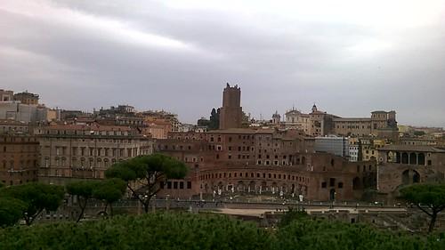 Foro di Cesare y Traiano desde la terraza del Altare della Patria