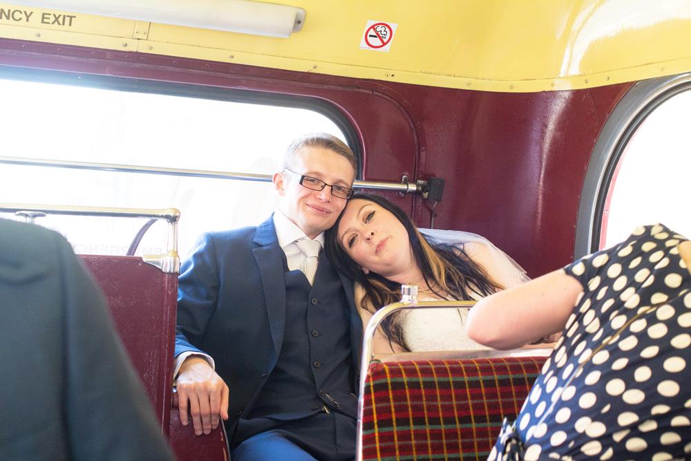 2. chrissy and dan wedding bus