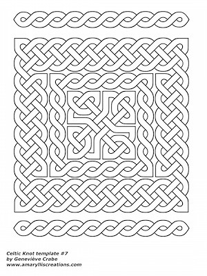 Celtic knot templates amaryllis creations celtic knot template 7 pronofoot35fo Image collections