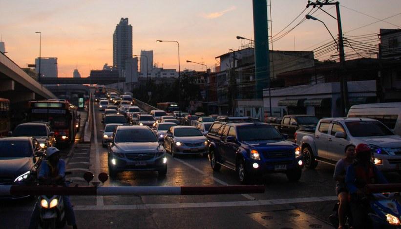 Solopgang i Bangkok