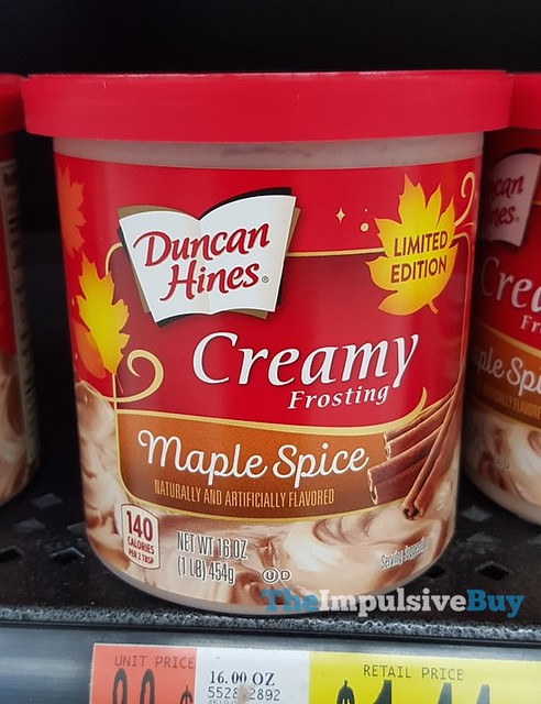 Duncan Hines Limited Edition Maple Spice Creamy Frosting