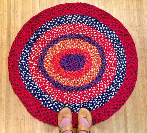 Completed Braided Rug