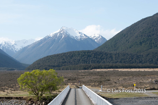 View from the TranzAlpine between Greymouth and Christchurch