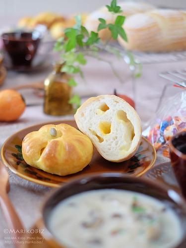 かぼちゃあんパン チーズローフ 20151014-DSCF0730