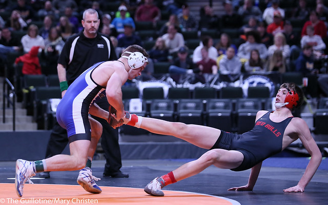 160AA - 1st Place Match - Brady Berge (Kasson-Mantorville) 45-0 won by tech fall over Collin Steuber (Fairmont-Martin County West) 42-5 (TF-1.5 3:34 (25-10))