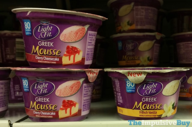 Dannon Light & Fit Greek Mousse (Cherry Cheesecake and French Vanilla)