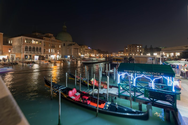 Venetian canal at night