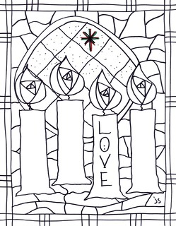 Advent Coloring Pages by Stushie