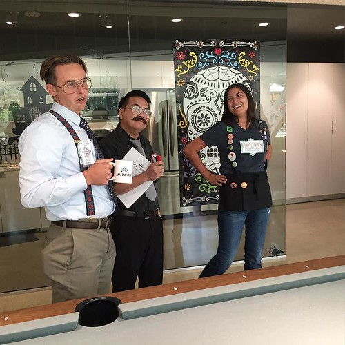 Who remembers Bill, Milton, and Joanna from #officespace? #cydcorfun #halloweenparty