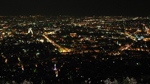 Overlooking Damascus at night in Syria 2006