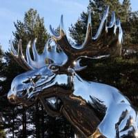 Elgstatue / Moose statue, Bjøråa in Østerdalen