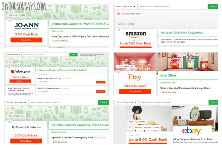 Ebates and sewing/crafts