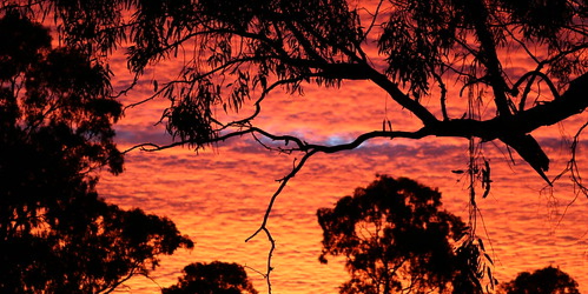 The burning sky - an Australian sunset