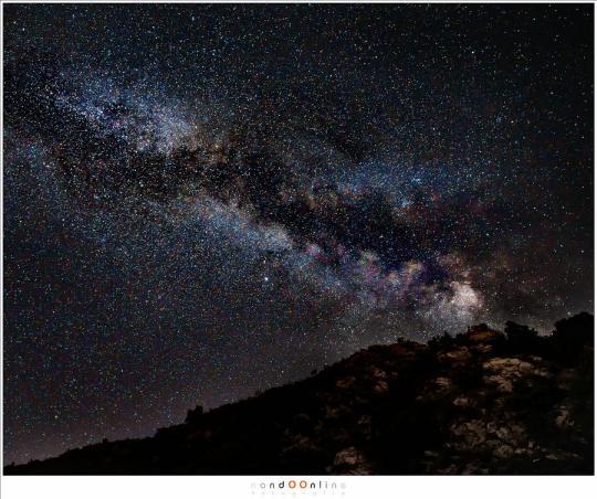 Melkweg vanaf Lac du Castillon