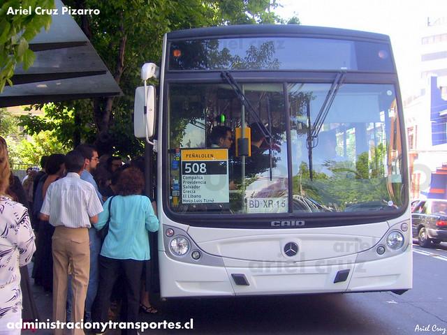 Transantiago - Buses Metropolitana / Metbus - Caio Mondego H / Mercedes Benz (BDXR15)