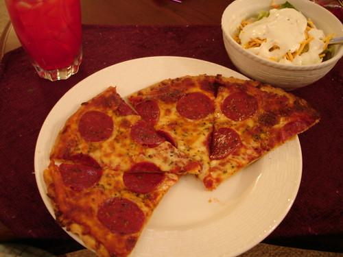 Pepporoni Pizza salad koolaid